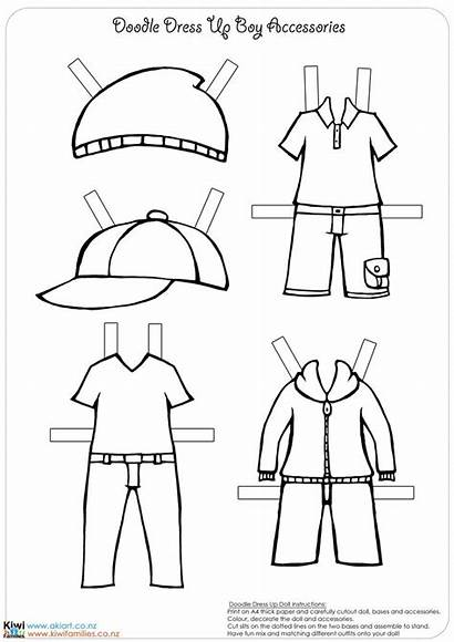 Doll Paper Dolls Template Own Boy Printable