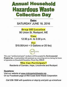 Annual hazardous waste collection day at Mid-Coast Solid ...