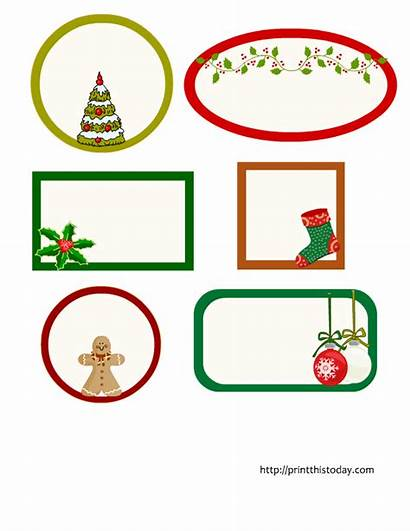 Christmas Labels Editable Printable Shapes Different Tags