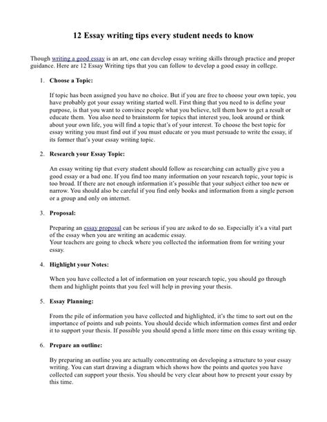12 Essay Writing Tips That Every Students Needs To Know