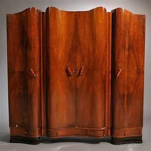 Armoire Art Deco : art deco vanity armoire two night cabinets and a shoe cabinet sale number 2661b lot number ~ Melissatoandfro.com Idées de Décoration