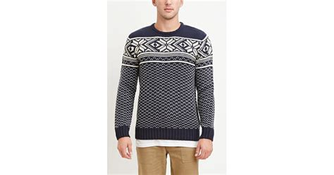 mens patterned sweaters forever 21 fair isle patterned sweater you 39 ve been added
