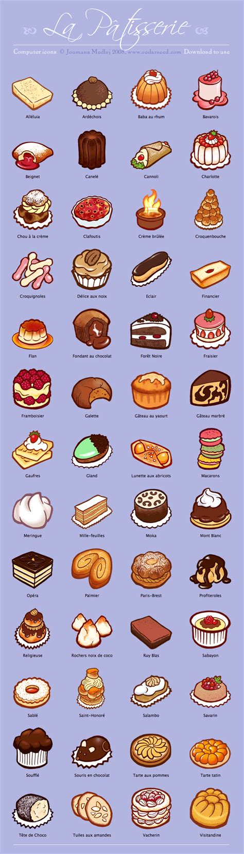 list of dessert names la patisserie icon set mac pc by majnouna on deviantart