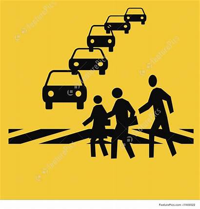 Crosswalk Safety Clipart Traffic Walk Cross Illustration
