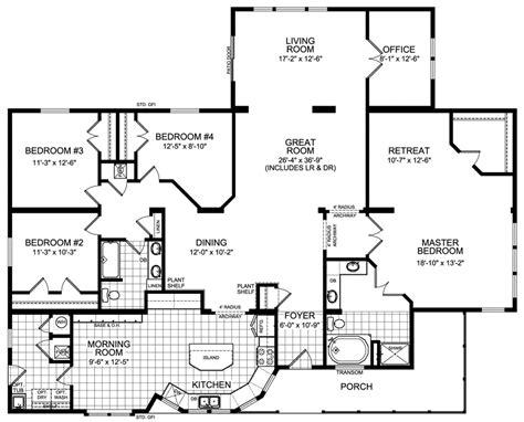blueprints for homes modular home floor plans 4 bedrooms modular housing