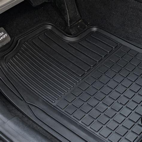 rubber car floor mats heavy duty trim fit rubber car floor mats grid trapping
