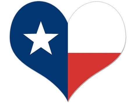 Texas Flag Heart Shaped Sticker