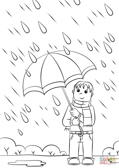 rainy day coloring page free printable coloring pages