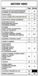 Mazda T Series  Wg  06  1989 Wiring Diagrams Factory Manual