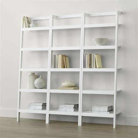 """Sawyer White Leaning 245"""" Bookcases Set Of Three"""