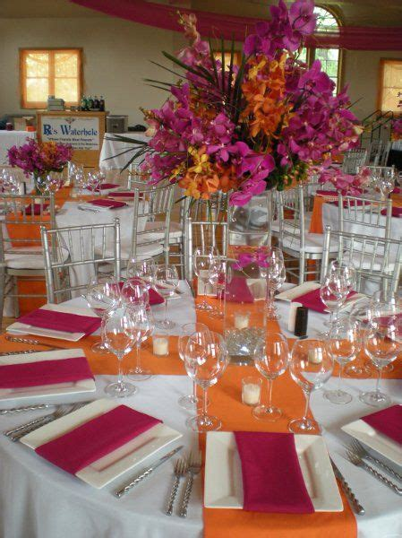 purple and orange decorating ideas johanna johnson fall 2014 runners receptions and wedding flower centerpieces