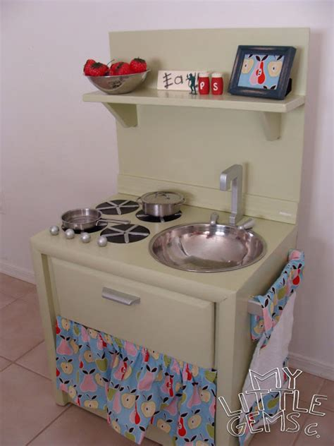 play kitchen from furniture dishfunctional designs old furniture upcycled into dollhouses play kitchens