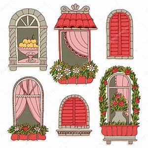 Illustrations with vintage windows — Stock Vector © xenia ...