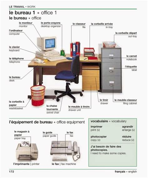 bureau travail for newbies le travail fle vocabulaire