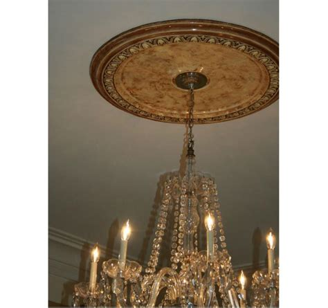 faux marble plaster medallion for chandelier