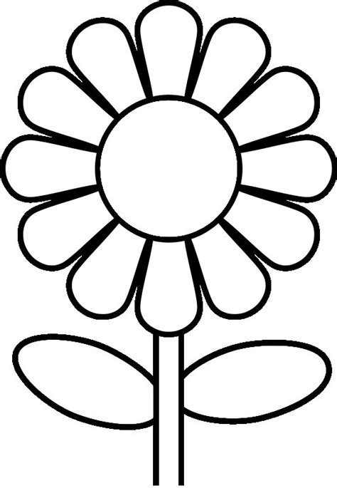 daisy flower template   clip art