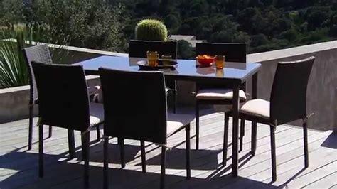 table et chaise exterieur oogarden salon de jardin lugo