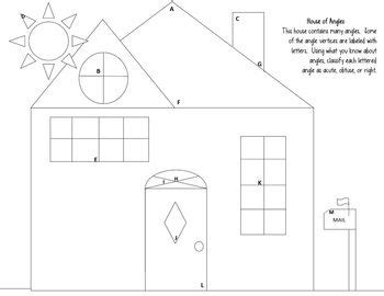 angles worksheet acute obtuse right quot house of angles
