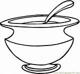 Coloring Dish Dishes Soup Washing Pages Printable Kitchenware Coloringpages101 Kitchen Getcolorings Main sketch template