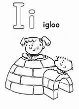 Igloo Coloring Inside Playing Template Bulkcolor Snoopy Bulk Sc Sheet Eskimo Children sketch template