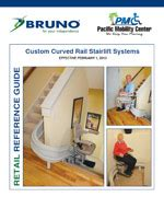 bruno exterior curved stairlifts in san diego pacific