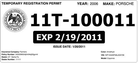 temporary tag template temporary license plate templates car interior design