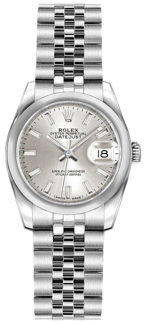 179160 Rolex Datejust Silver Stick Ladies Automatic Jubile ...