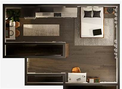 Studio Apartment Layout Shaped Modsy Tackling Guide