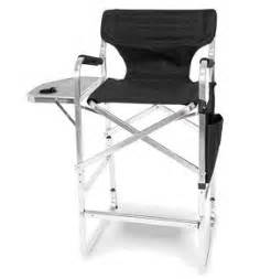 aluminum 30 quot bar height directors chair with table side bag kitchen dining