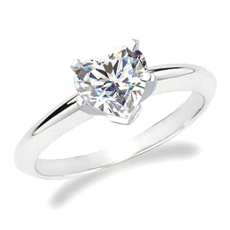 heart shaped simple engagement ring my dream wedding