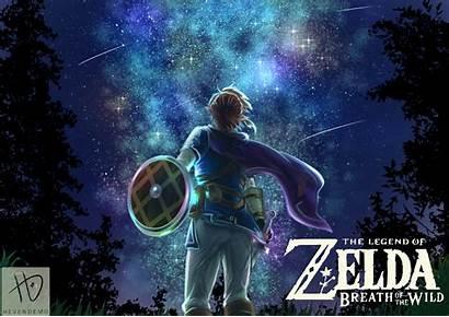 Breath Wild Link Background Zelda Legend Fanart