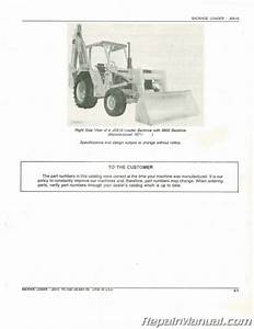 Used John Deere Jd510 Backhoe Loader Parts Manual
