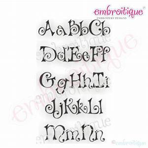 Embroitique bows embroidery alphabet monogram set for Embroidery prices per letter
