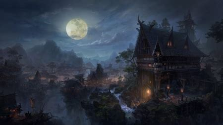 gothic castle fantasy abstract background wallpapers
