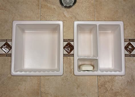 shower niche insert bathroom shoo soap shelf dish shower niche recessed tile ceramic porcelain corner caddy
