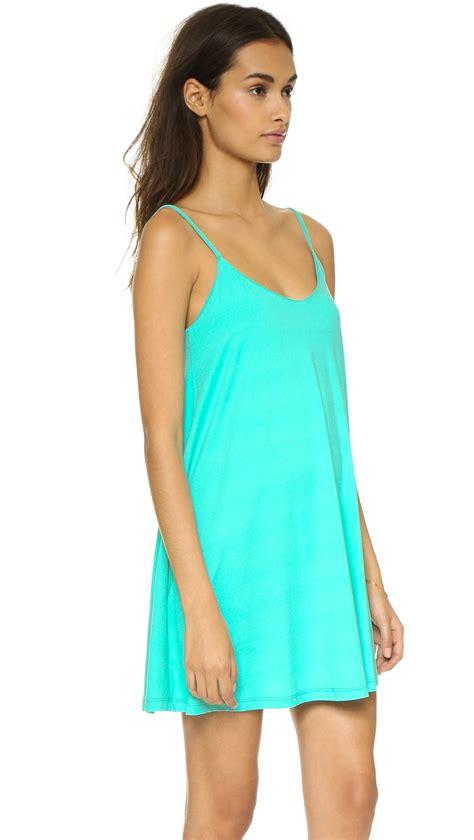 v drape lyst susana monaco v drape dress zinnia in blue