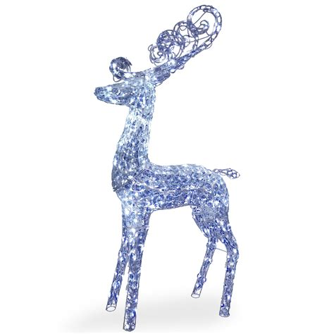 moose 60 inch lighted outdoor display national tree company 60 quot reindeer decoration with led lights