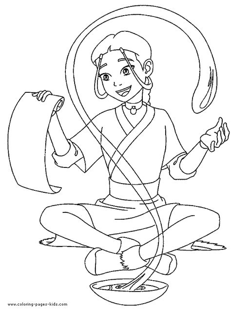Bende Kleurplaat by Avatar The Last Airbender Color Page Coloring Pages For