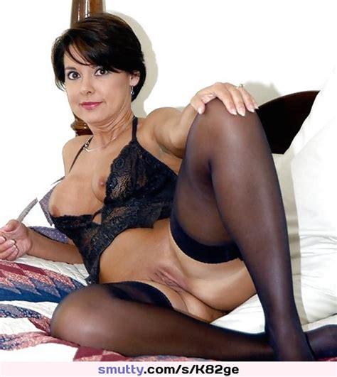 Milf Lingerie Nylon Stocking Tits Pussy Shaved