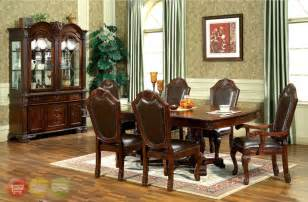 Formal Dining Room Set Chateau Traditional 7 Formal Dining Room Set Pedestal Table Chairs Ebay