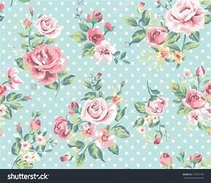 Vintage Flower Print Wallpaper | www.pixshark.com - Images ...