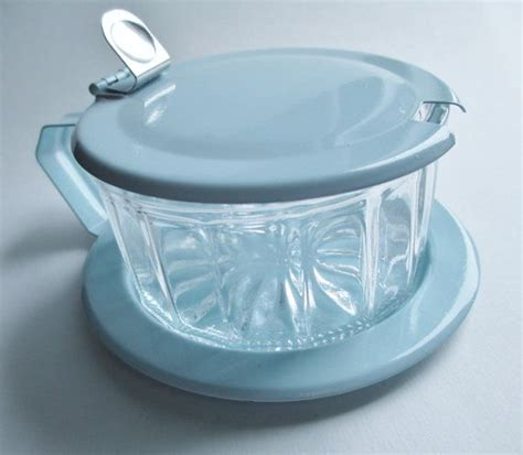 glass bowls with lids pressed glass sugar condiment bowl dish with metal saucer 3764