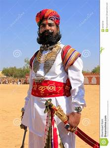Indian Man In Traditional Dress Taking Part In Mr Desert ...