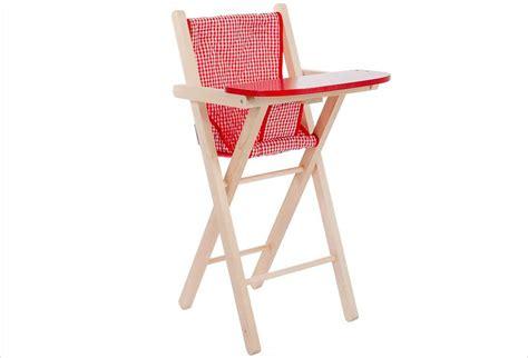chaise haute pour poupee chaise haute poupée bois et vichy apesanteur