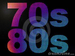 70s And 80s LED Neon Psychedelic Light Sign Stock