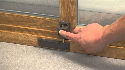 How To Mount And Use A Lang Exterior Patio Door Toe Lock