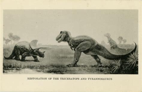 postcard  charles  knights mural  tyrannosaurus rex