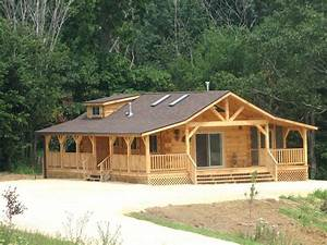 Burr oak iowa amish built log cabin harpers ferry for Amish builders in iowa