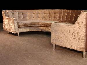 Semi circle sofa in gold crushed velvet for the home for Gold velvet sectional sofa