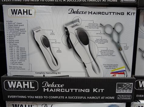 wahl deluxe haircutting kit